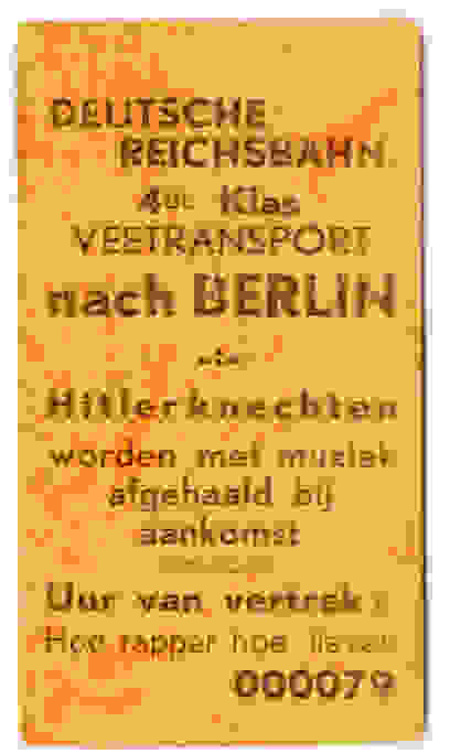 Veetransport nach Berlin - Hitlerknechten worden met muziek afgehaald bij aankomst