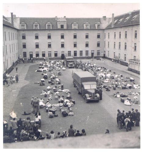 De Dossinkazerne in Mechelen: vanaf juli 1942 werden hier 25.274 joden en 354 Roma en Sinti verzamelden weggevoerd richting Auschwitz-Birkenau en andere kampen.