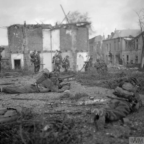 Britse soldaten in gevecht