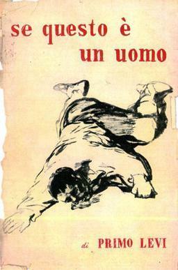 Boekcover 'Is dit een mens' van Primo Levi.