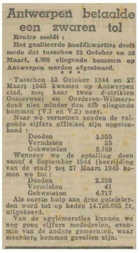 Artikel uit Gazet van Antwerpen van 24 april '45 (© Digitaal Archief Gazet van Antwerpen)