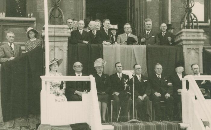Ontvangst van Marcel Louette in 1946.