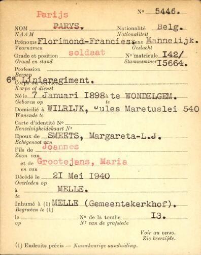 Document over Florimond Parijs