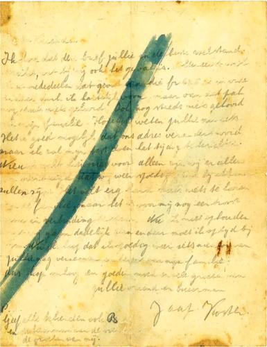 Brief van Jaap Koster